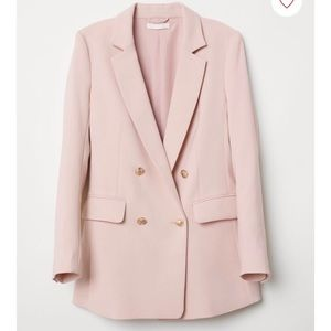 H&M Double Breasted Pink Blazer